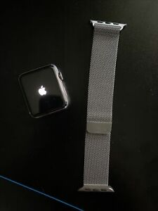 Apple Watch 42mm Stainless Steel Case , Authentic Milanese Loop
