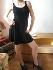 VTG  Mini Dress 60s sleeveless Flared Skirt sexy pinup bombshell black Sz 3 - 4