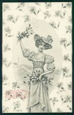 Viennoise Easter Glamour Fashion Lady serie 1953 postcard TC3903