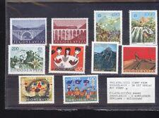 JUGOSLAVIA SET 10 FRANCOBOLLI TEMATICHE VARIE COME DA FOTO (1009)