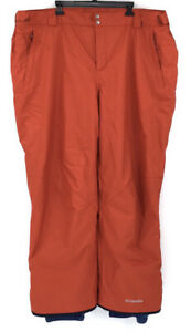 Columbia Mens Size 4X Tall Orange Snow Pants EUC Winter Sports