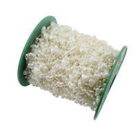 1M Zuchtperle Imitat Creme 9mm Hochzeit Deko Herz Perlenband Perlenschnur C343