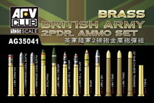 AFV Club 1/35 WWII British Army 2-Pounder Gun Ammo Set (Brass)
