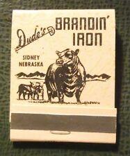 Matchbook - Dude's Brandin Iron Sidney NE FULL peach