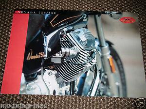 MOTO GUZZI NEVADA 750 350  MOTO GUZZI NEVADA MOTORCYCLE SALES BROCHURE PROSPEKT