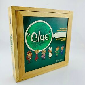 CLUE Nostalgia Series Board Game in Wooden Box Parker Brothers | Complete