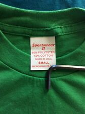Vtg Early 90s Sportswear Plain Green T-Shirt S Blank 50/50 Made In USA