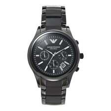 Armani Watches Armani AR1452 Mens Black Ceramica Chronograph Watch
