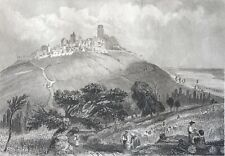 Sancerre Cher gravure de 1856 par Rouargue  Centre-Val de Loire France