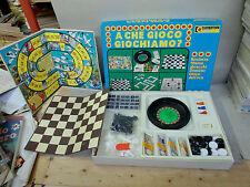 A CHE GIOCO GIOCHIAMO gioco da tavolo CLEMENTONI ANNI 70/80 Q.COMPLETO OTTIMO
