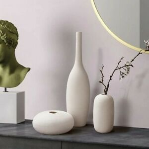 White Art Ceramic Flower Vase decoration home decor accessories for living room