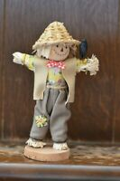 Fabulous VINTAGE Costume Doll of a 100% Cotton Scarecrow - 17cm Tall