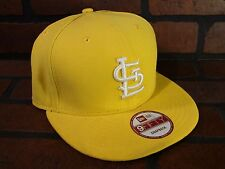 St Louis CARDINALS MLB Yellow White Snapback Hat NEW Era Adult Unisex Cap