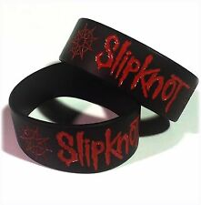"Slipknot Wristbands 1"" Wide m/ UK STOCK Silicone FAST Shipping Metal!"
