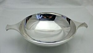 1937 Sterling Solid Silver Large 2 Handled Quaich Whisky Dish 354g (1480/9/VAN)