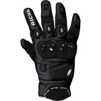 Richa Rock Leather Motorbike/ Motorcycle Short Racing Style Glove Black