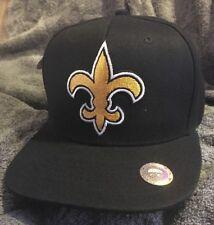 New Orleans Saints Flatbill Hat Black Snapback Cap Brand New