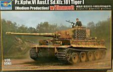 1/35 German Pz.Kpfw.VI Ausf.E Sd.Kfz.181 TIGER I w/ Zimmerit ~ Trumpeter 09539