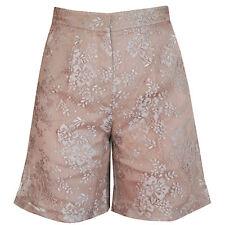 VALENTINO $1,890 nude lace high rise waist wide leg dress shorts 40-IT/4-US NEW