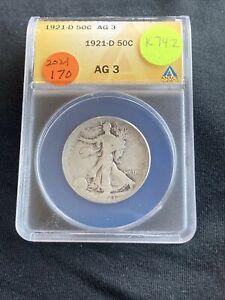 1921-D Liberty Walking Half Dollar K742