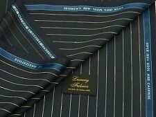 CHARLES CLAYTON 'MASTERPIECE' SUPER 150S WOOL/CASHMERE NAVY SUITING FABRIC 4.2M