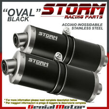 Exhaust Storm by Mivv Mufflers Oval Nero Steel for Suzuki Sv 1000 2003 > 2006