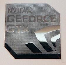 Etiqueta engomada del metal pulida NVIDIA GEFORCE GTX / adhesivo 18 x 18mm [840]