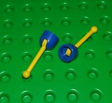 Lego Blue Base Rare Yellow Gear Levers Sticks Space Antennas - 2 pieces