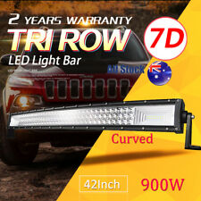7D Curved 42inch CREE LED Work Light Bar Combo Beam Offroad Driving Truck 3-Row