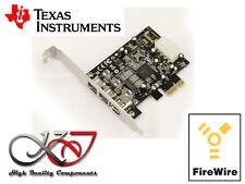 Carte PCIE FIREWIRE 400 et 800 IEEE1394 A+B PUCE TEXAS INSTRUMENTS