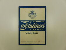 Anonimo, Fattorie dei marchesi Antinori. Vini ed olio, agosto-settembre 1936