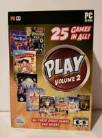 Play Volume 2 PC CD-ROM (25 Games on 3 Disks) 2010, Windows 7/xp/vista