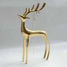 Brass Decor Deer Sculpture Figurine for Home Office Shelf Decorative Gift Accent