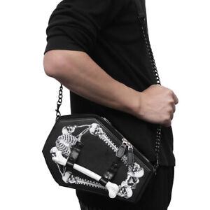 New Unisex Handbag Skeleton Bat Bag Harajuku Style Shoulder Bag Messenger Bag US