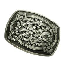 Novelty Rectangle 3D Celtic Pattern Metal Belt Buckle Western Cowboy Rodeo
