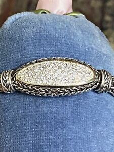 """❤️Bali Couture  Sterling Fab Wheat Chain Bracelet 6.5"""" Total Closed Inside Meas."""