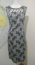 Spoil Yourself Black And Grey Lace Print Knee Length Wiggle Dress Size 14