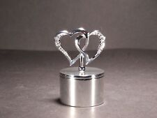 Silver Color Jewellery Box With Hearts on the Lid Perfect for Engagement Ring #2