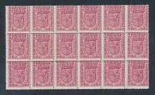 SPAIN 1896 OFFICIAL ROSE UM MINT BLOCK of 18