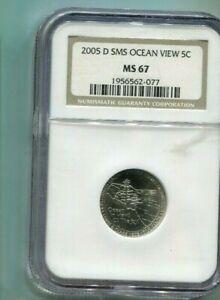 2005-D US Jefferson Nickel Ocean View - NGC MS67