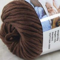 Sale New 1 Skein x 50g Soft Pure Cotton Chunky Super Bulky Hand Knitting Yarn 14