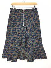 GHOSPELL by Sister Jane Camo Animal Print Tapestry Ruffle Midi Skirt Medium 10UK