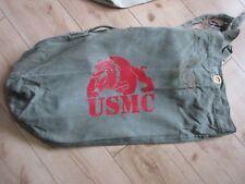 USMC Bulldogge Denim Seesack Canvas Duffle Bag US Navy Army Marines Vietnam #5
