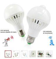 LAMPADINA a LED intelligente con sensore di movimento & sonoro 3W 5W 7W 9W 12W