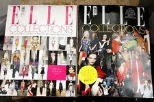 TWO ELLE COLLECTIONS MAGAZINES, AUTUMN WINTER 2008 AND S/S 2009 GREAT CONDITION