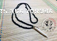 Eleke Collar Negro Nana Buruku,Eggun,Black Spiritual Eleke Santeria Palo ifa