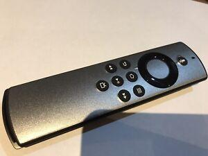 Amazon Fire Was Tv Stick Lite remote Vinyl Sticker Cover Silver Etch