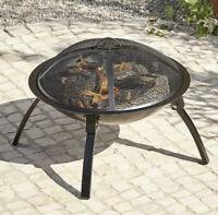 Outdoor Fire Pit Log Burner Garden Patio Heater Steel Bowl 56CM Folding Leg NEW