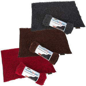 Scruffs Noodle Dry Mat for Dogs Absorbent Quick Drying Rug Grey Chocolate Red