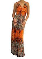 Ladies Maxi Dress Lace Trim Size 10 12 14 16